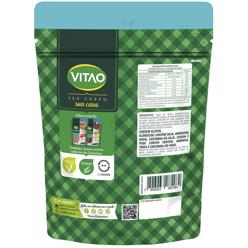 Granola tradicional integral salgada 250g - Vitao - unidade