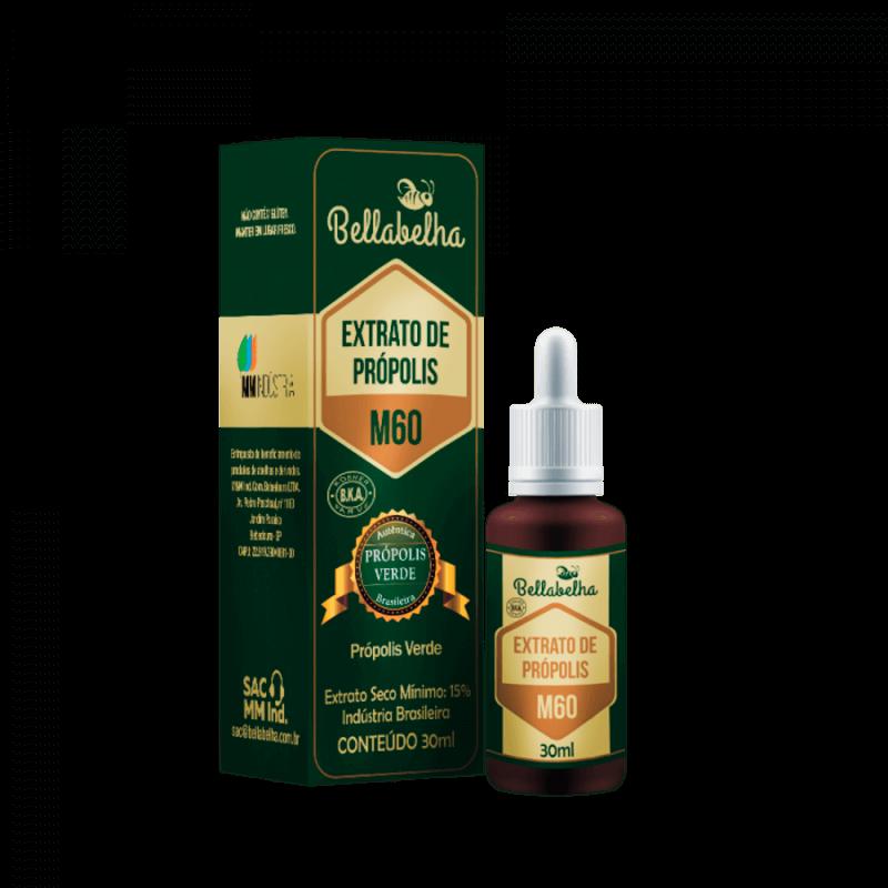Extrato de própolis verde M60 15% seco gotas 30 ml - Bellabelha - un