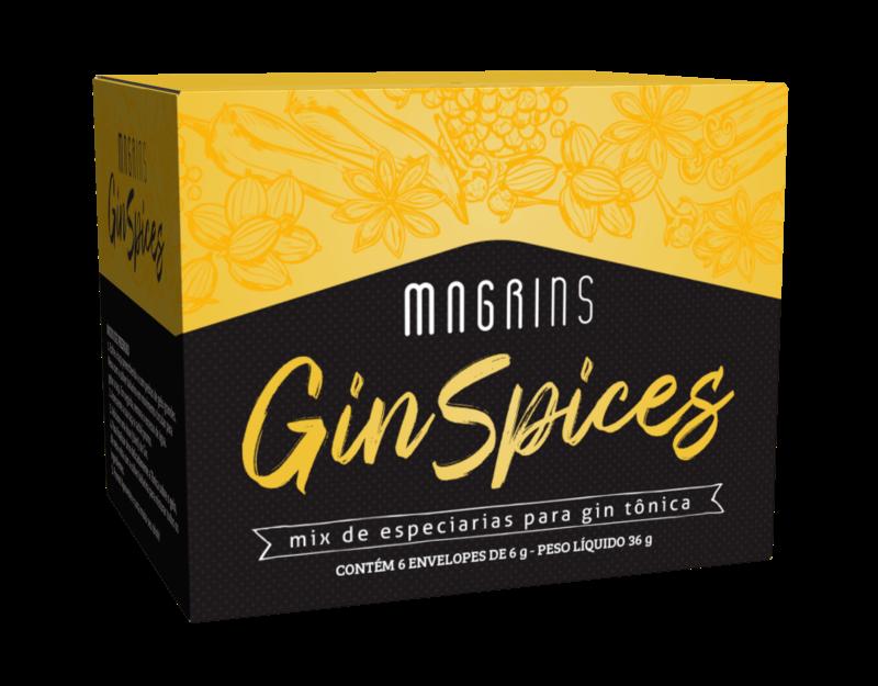 Mix de especiarias para gin tônica magrins gin spyces 06g - Stevia Soul - cx c/ 06 un