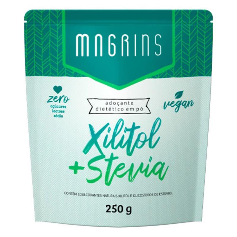 Adoçante xilitol c/ stevia magrins pouch 250 g - Stevita - 01 un
