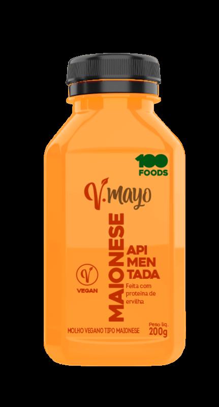 Maionese vegana v-mayo apimentada - 100foods - 01 un
