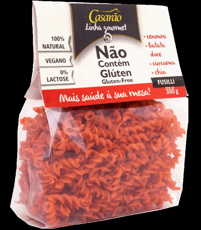 Massa de arroz fusilli gourmet c/ cenoura