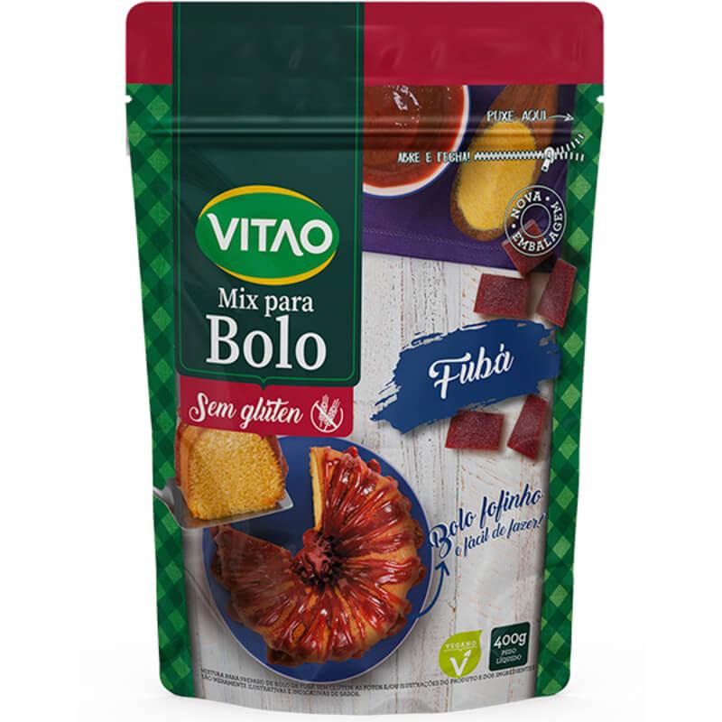 Mix para bolo s/ glúten sabor fubá - Vitao - 01 un