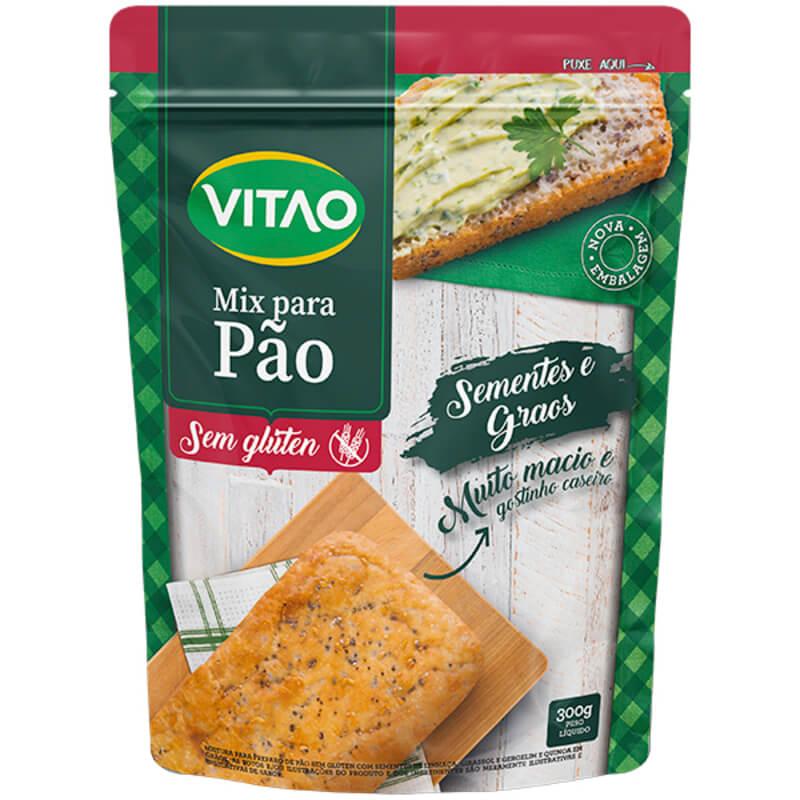 Mix para pão c/ sementes s/ glúten - Vitao - 01 un