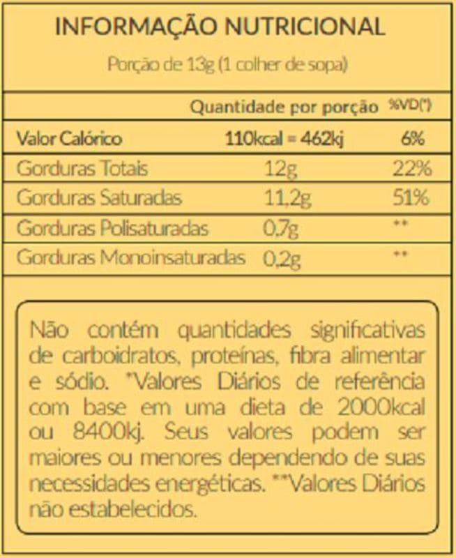 Óleo de coco extravirgem película 200 ml - Santo Óleo - 01 un