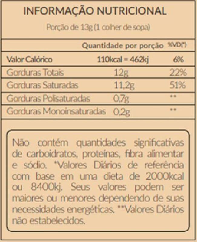 Óleo de coco extravirgem polpa 200 ml - Santo Óleo - 01 un