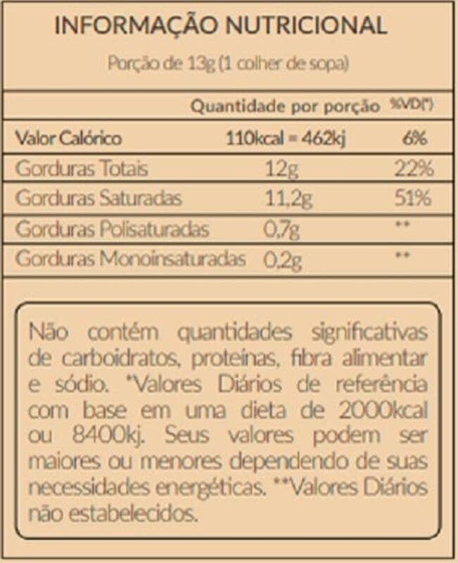Óleo de coco extravirgem sachê 15 ml - Santo Óleo - unidade
