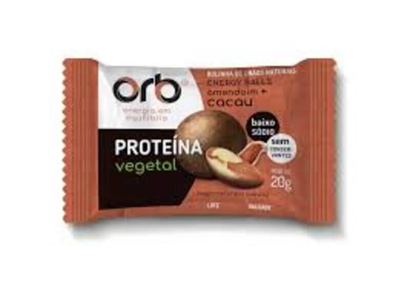 Energy ball de amendoim sabor cacau - Orb - cx c/ 25 un.