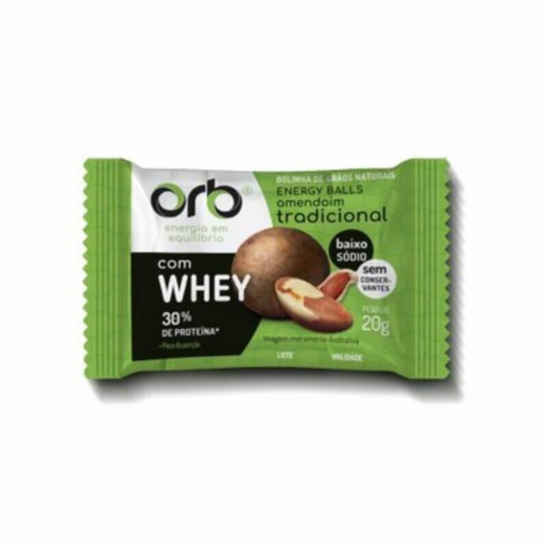 Energy ball de amendoim tradicional - Orb - cx c/ 25 un.