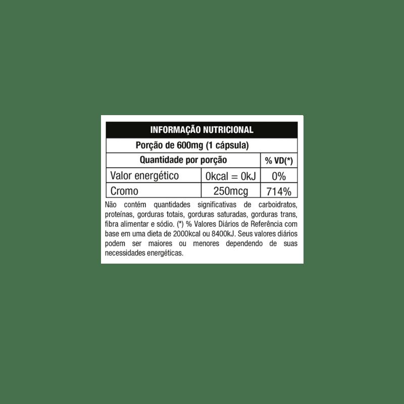 Picolinato de cromo 120 cápsulas - nutrara - 01 un