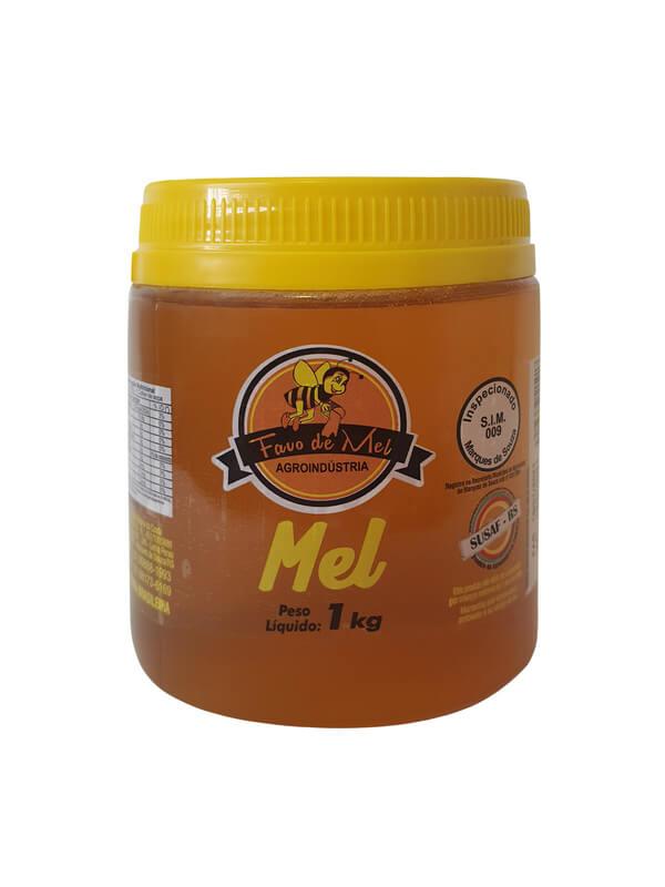 Pote de mel 01 kg - Favo de mel - 01 un