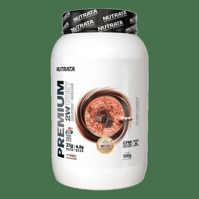 Premium 2w whey sabor duplo chocolate 900 g - Nutrata - 01 un