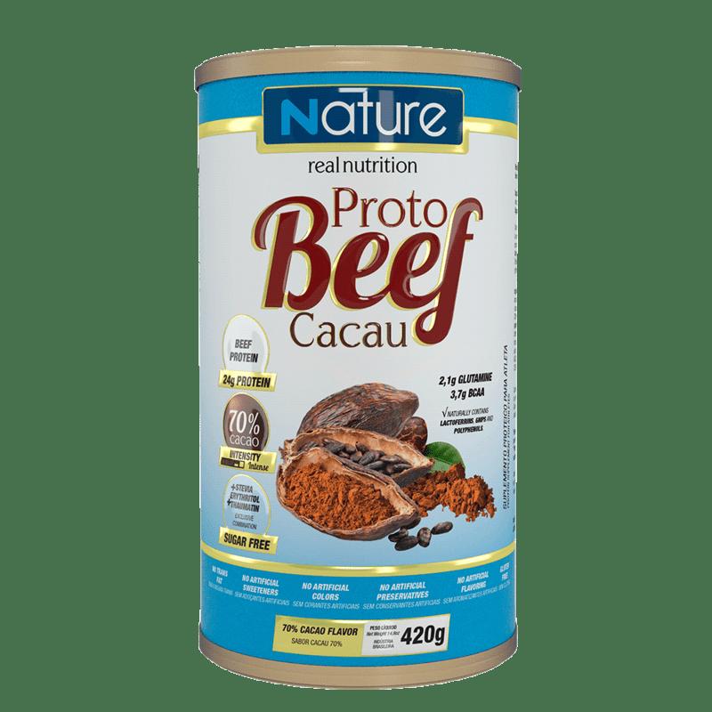 Proto beef sabor cacau 70% linha nature 420 g - Nutrata - 01 un