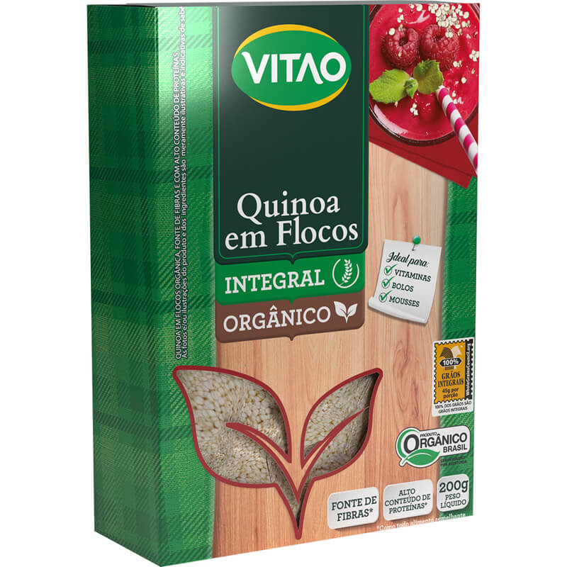 Quinoa em flocos orgânico 200g - Vitao - unidade