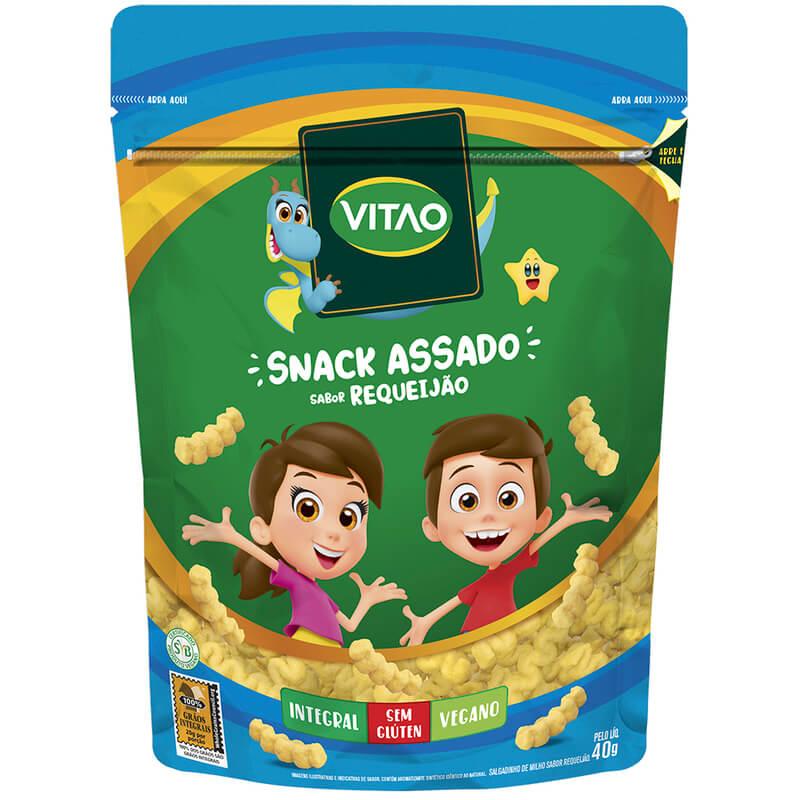 Snack integral sabor requeijão linha kids 40g - Vitao - 01 un