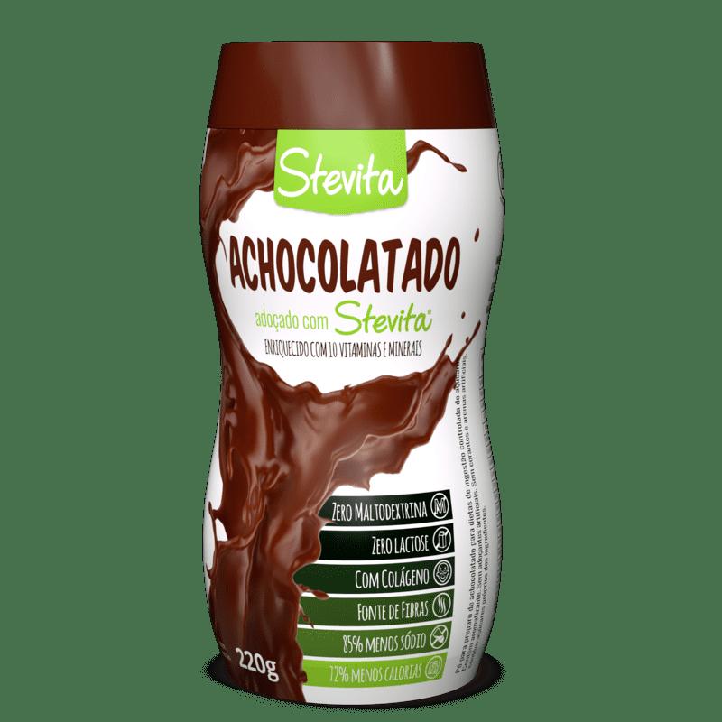 Achocolatado c/ stévia em pó 220 g - Stevita - 01 un