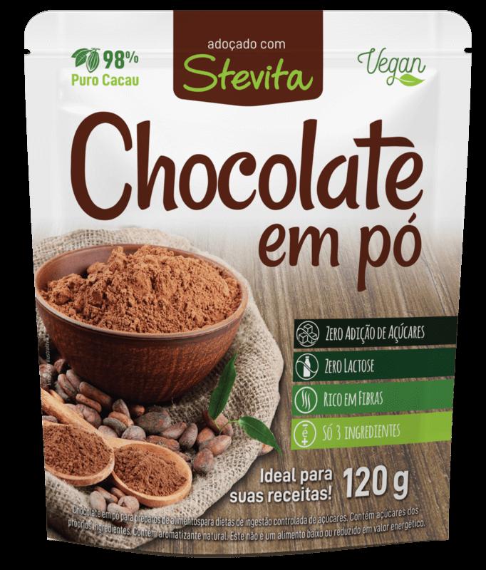 Chocolate em pó stevita - Stevia Soul - unidade