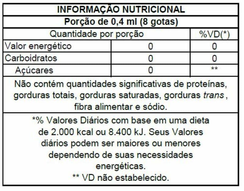 Adoçante stévia Stevita líquido 30 ml - Stevita - 01 un