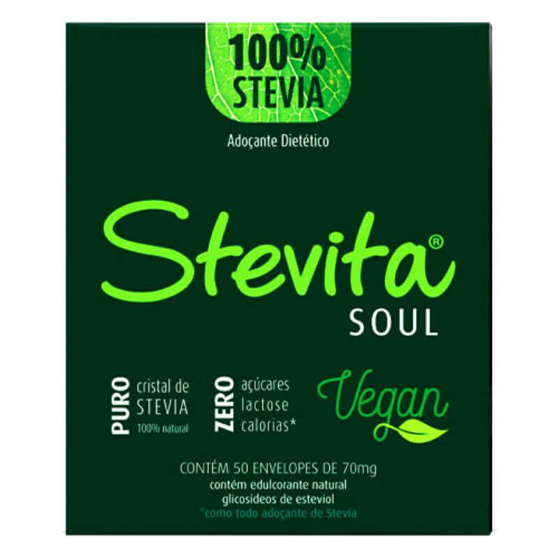Adoçante stevia Stevita soul sachê - Stevita - 01 cx c/ 50 sachês