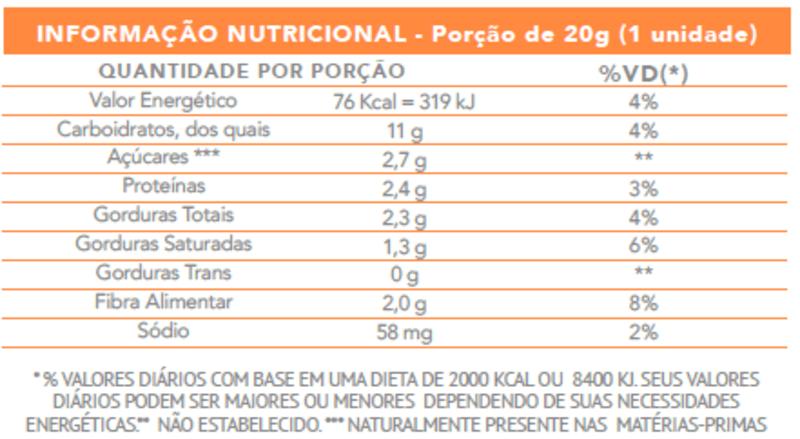 Tablete de doce de leite zero - Flormel - cx c/ 24 un.