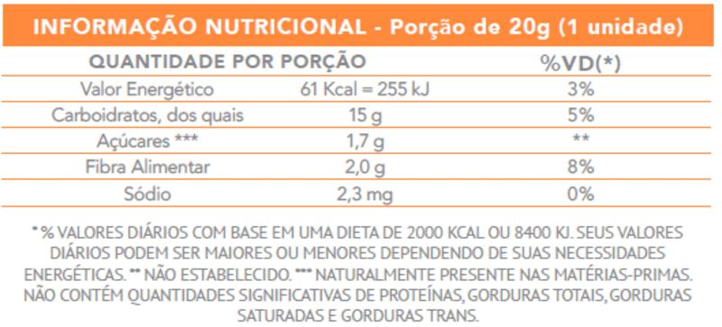 Tablete de goiabada zero - Flormel - cx c/ 24 un.