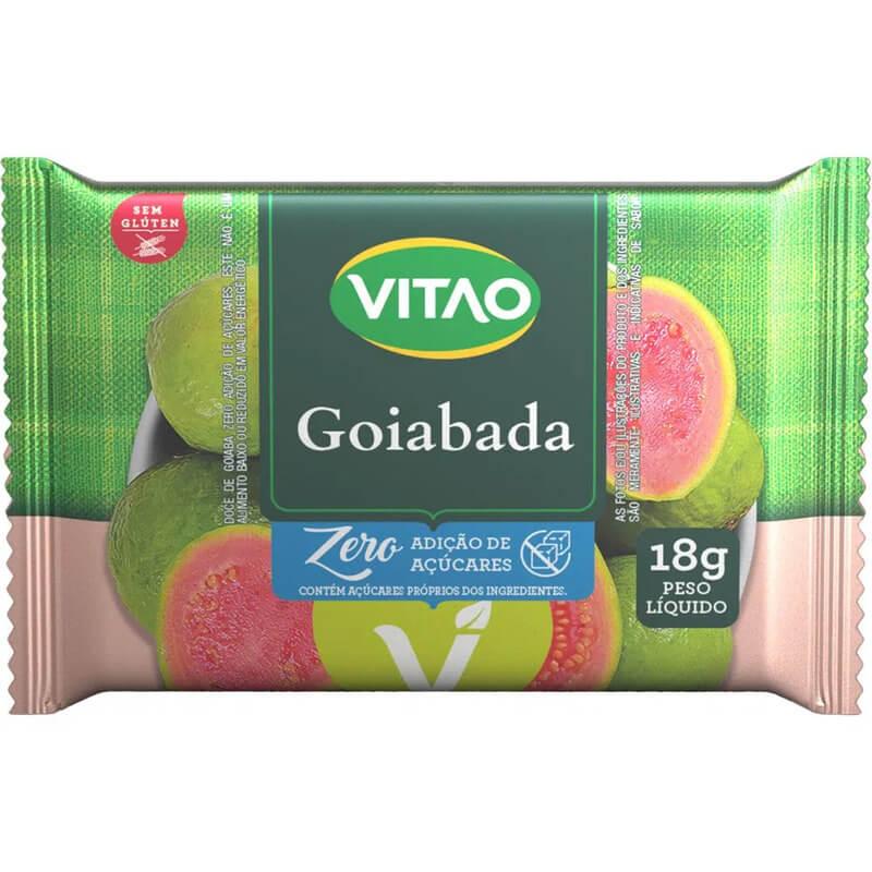 Tablete de goiabada zero - Vitao - caixa c/ 03 un