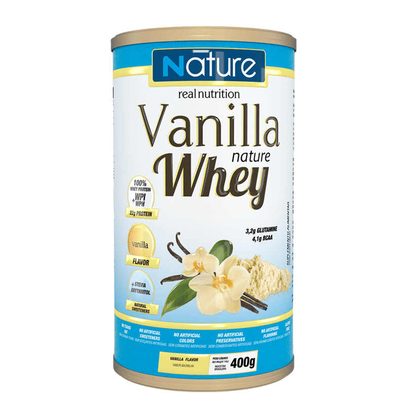 Whey sabor baunilha linha nature 400 g - Nutrata - 01 un