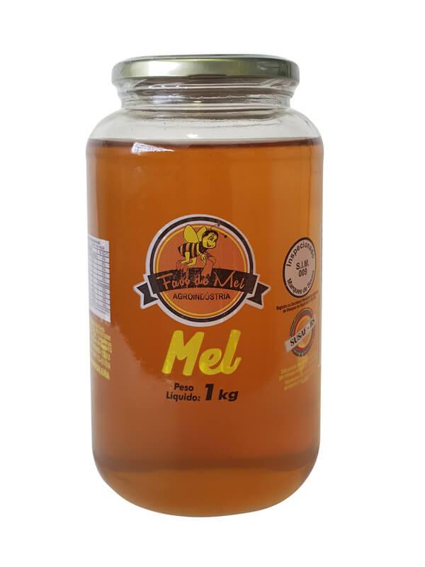 Vidro de mel 01 kg - Favo de mel - 01 un