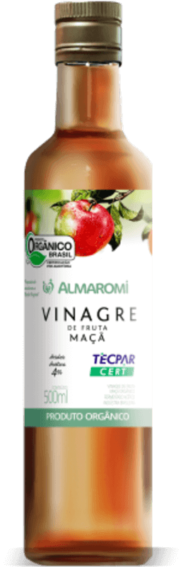 Vinagre de maçã almaromi orgânico 500 ml - almaromi viccino - 01 un