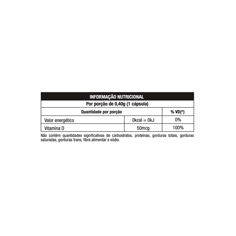 Vitamina d3 60 cápsulas linha nature - Nutrata - 01 un