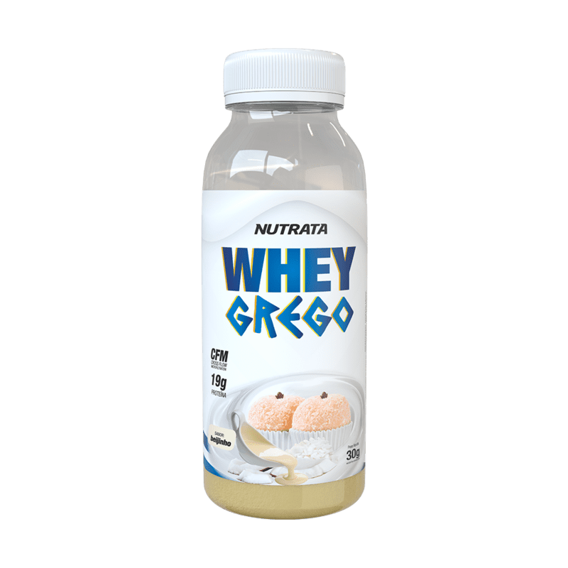 Whey grego sabor beijinho monodose 30 g - Nutrata - 01 un