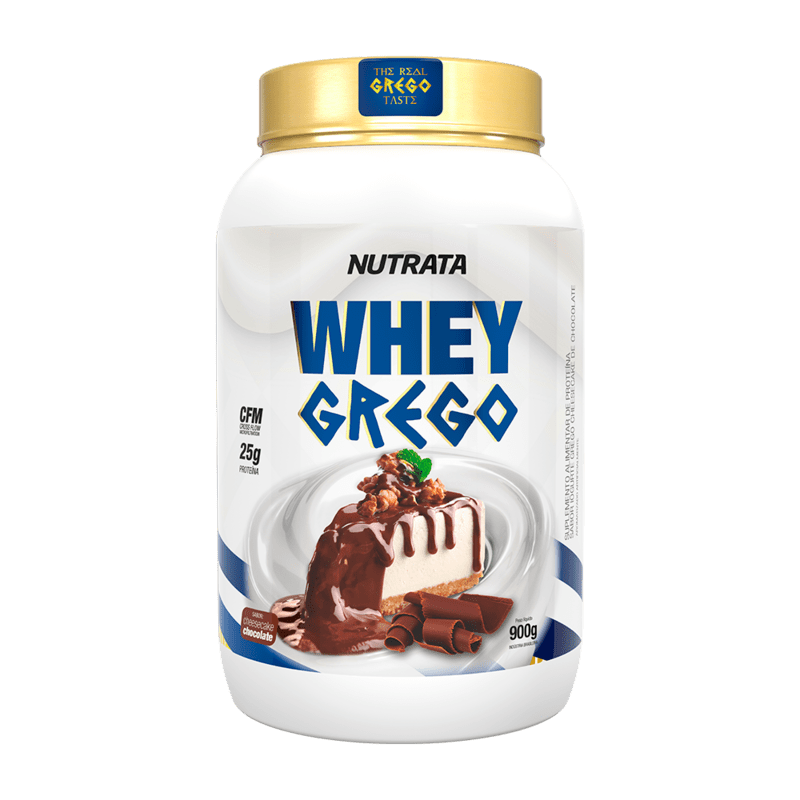 Whey grego sabor cheesecake de chocolate 900 g - Nutrata - 01 un