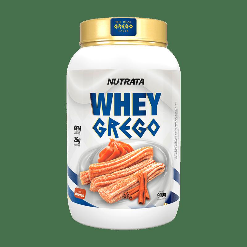 Whey grego sabor churros 900 g - Nutrata - 01 un