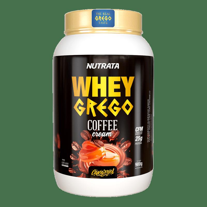 Whey grego coffee cream sabor caramelo 900 g - Nutrata - 01 un