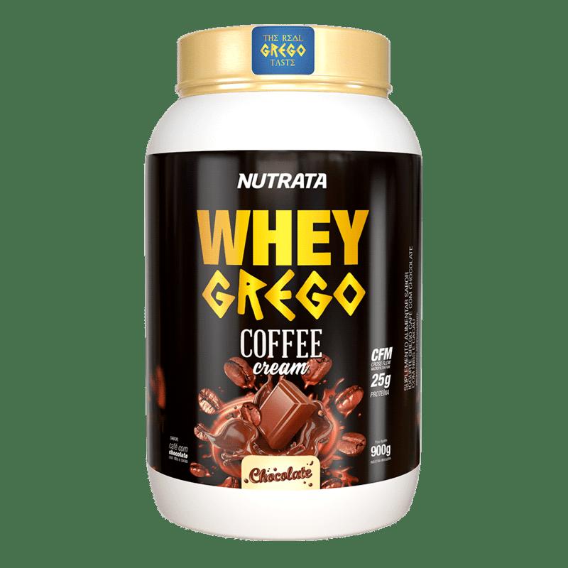 Whey grego coffee cream sabor chocolate 900 g - Nutrata - 01 un