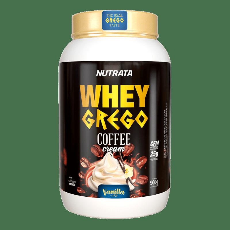 Whey grego coffee cream sabor baunilha 900 g - Nutrata - 01 un