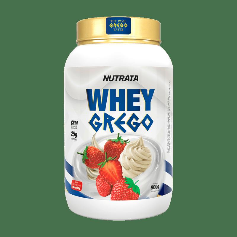 Whey grego sabor morango c/ chantilly 900 g - Nutrata - 01 un