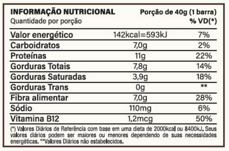 Barra de proteína vegana you vegan sabor café com cacau 70% 40g - Nutrata - cx c/ 10 un