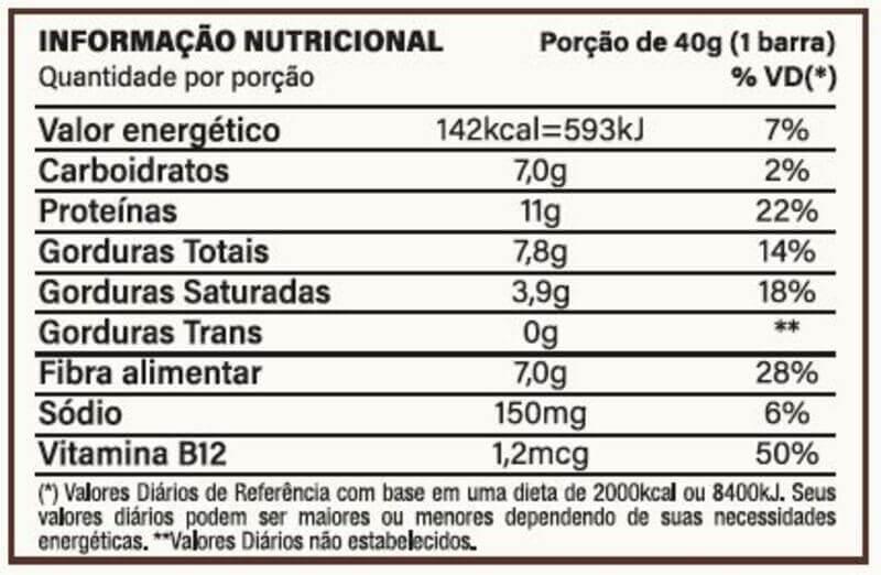 Barra de proteína vegana you vegan sabor caramelo com cacau 70% 40g - Nutrata - cx c/ 10 un