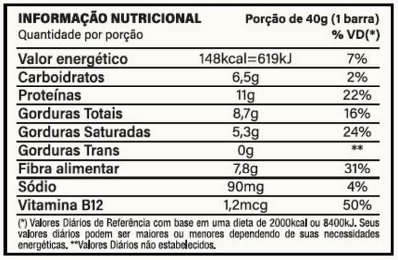 Barra de proteína vegana you vegan sabor coco cremoso 40g - Nutrata - cx c/ 10 un