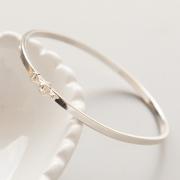 Bracelete de Prata 925 2mm Aro Quadrado