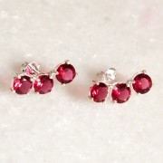 Brinco Ear Cuff de Prata 925 Rosa