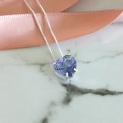 Colar de Prata 925 Coração Pequeno Lilás