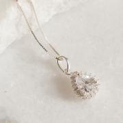 Colar de Prata 925 Gota Cristal