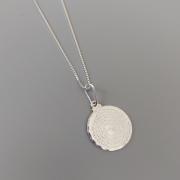 Colar de Prata 925 Medalha Pai Nosso 15mm