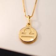 Colar de Prata 925 Signo Libra Banho Ouro 18K