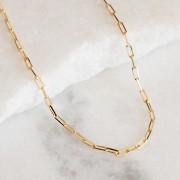 Corrente Cartier Quadrada 50cm Banho Ouro Amarelo 18K
