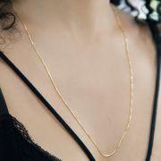 Corrente Veneziana de Prata 925 com 70cm Banho Ouro 18K