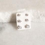 Mix de Brincos de Prata 925 Estrela Cristal