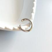 Piercing Fake Tubo Banho Ródio Branco